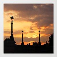 A Sunset In Paris Canvas Print