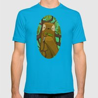 Sally The Sloth Mens Fitted Tee Teal SMALL