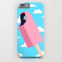 iPhone Cases featuring Creamsicle To Another Dimension...  by Popsicle Illusion