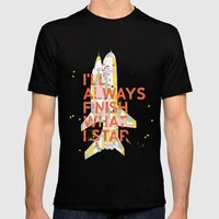 I'LL ALWAYS FINISH WHAT I STAR... Mens Fitted Tee Black SMALL