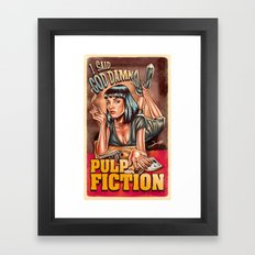 Mia Wallace - Pulp Fiction Framed Art Print