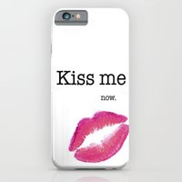 iPhone & iPod Case featuring KISS ME by Sara LG