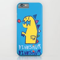 iPhone & iPod Case featuring yellow dinosaur by moc ging