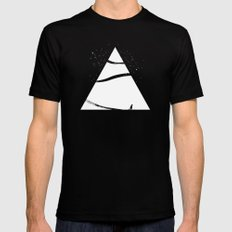 time to snow! Black Mens Fitted Tee SMALL