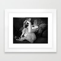 Tell me a Story Framed Art Print