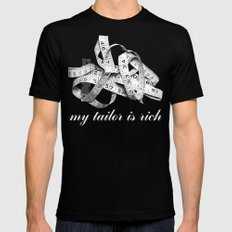 my tailor is rich Black Mens Fitted Tee SMALL