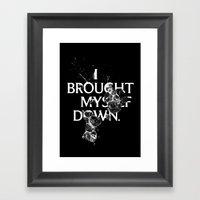 Nixon 01: I Brought Myse… Framed Art Print