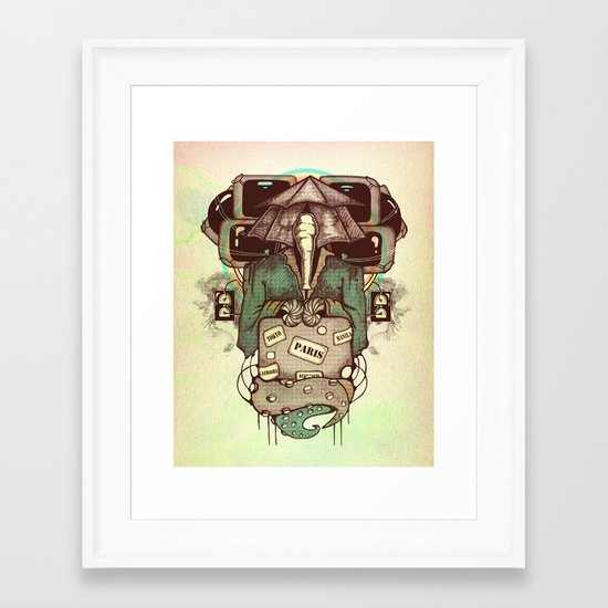 Transcendental Tourist Framed Art Print