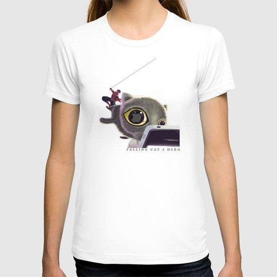 Falling Cat & Hero T-shirt