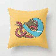 Vipera Color Throw Pillow