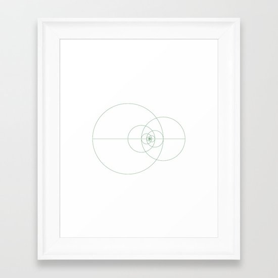 #373 Fibonacci orbits – Geometry Daily Framed Art Print