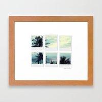 Polaroid Collage 'Palms' Framed Art Print