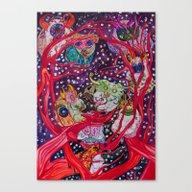 Fuzzy Masquerade Canvas Print