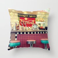 Retro Diner Throw Pillow