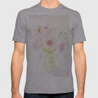 Pink Gerberas In A Vase … Mens Fitted Tee Athletic Grey SMALL