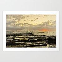 Sun Rise The Golden Ligh… Art Print