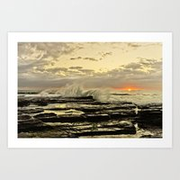 Sun Rise The Golden Ligh… Art Print