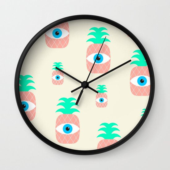P[eye]NEAPPLES Wall Clock