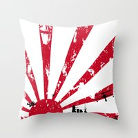 Throw Pillow featuring Imperial Japanese Navy by maclac
