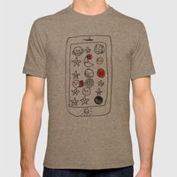 My space phone Mens Fitted Tee Tri-Coffee SMALL