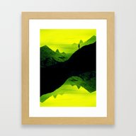 Vibrant Wasteland Framed Art Print