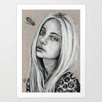 Honeycomb: Postcard #3  Art Print