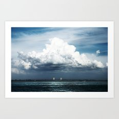Island Clouds Art Print