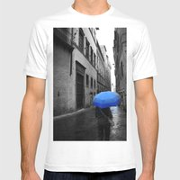 What's A Little Rain? Mens Fitted Tee White SMALL