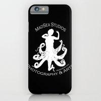 MadSea Nymph, white on black iPhone 6 Slim Case