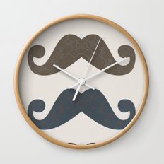 Stache Attack Wall Clock