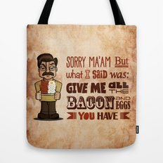 Ron Swanson 4 Tote Bag