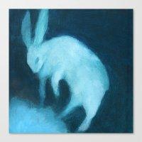 Ghost Bunny adrift Canvas Print