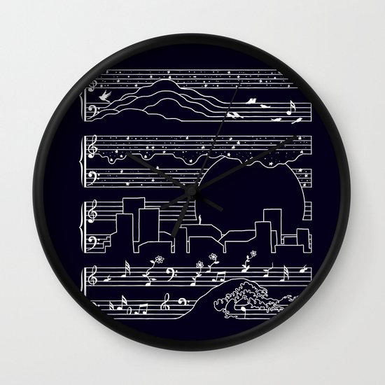 The Moonlight Sonata Wall Clock