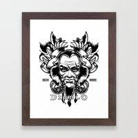 Diablo III. Barbarian Framed Art Print