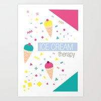 Ice Cream Therapy Art Print