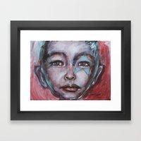 Star Boy Superhero Framed Art Print