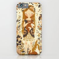 floral iPhone & iPod Cases featuring The Queen of Pentacles by Teagan White