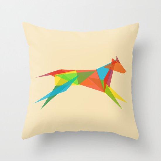 Fractal Geometric Dog Throw Pillow