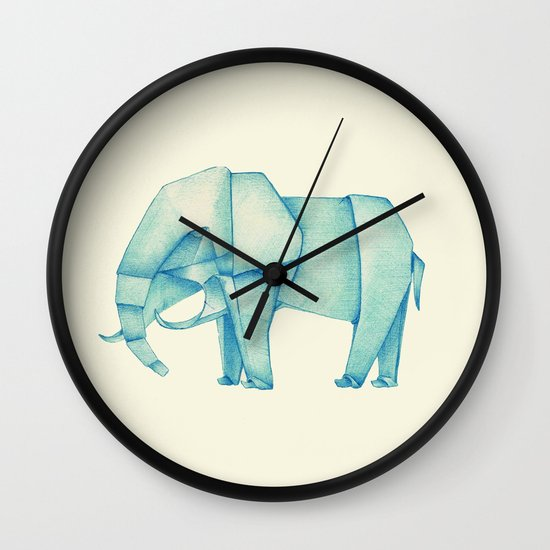 Paper Elephant Wall Clock
