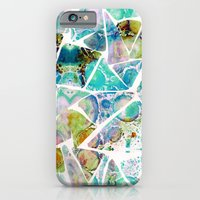 iPhone & iPod Case featuring Marbled Earth Blue by Amy Sia
