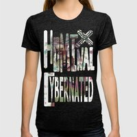 Hominal Cybernated Womens Fitted Tee Tri-Black SMALL