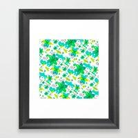 Flower Overlay Pattern Framed Art Print