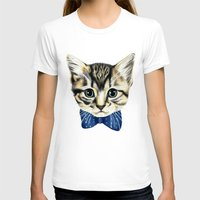 Un Petit Chaton Womens Fitted Tee White SMALL