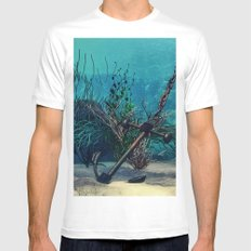 Ocean 2 Mens Fitted Tee SMALL White