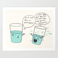 another optimistic glass Art Print