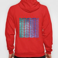Colorful Leaves from Turquoise to Levender Hoody