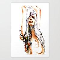 Loose Lines Art Print