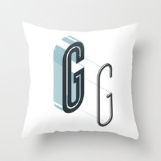 The Exploded Alphabet / G Throw Pillow