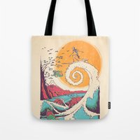 Surf Before Christmas Tote Bag