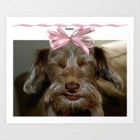 Smile, puppy, smile Art Print